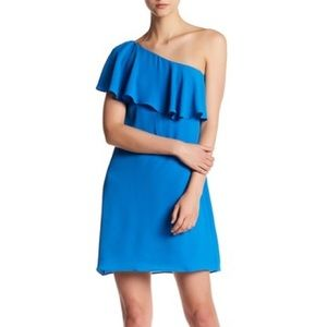 NWT Maggy London Nordstrom Sea Blue Ruffle Dress